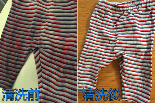 GIOTTO創意寶寶手指彩繪組-衣服洗淨測試