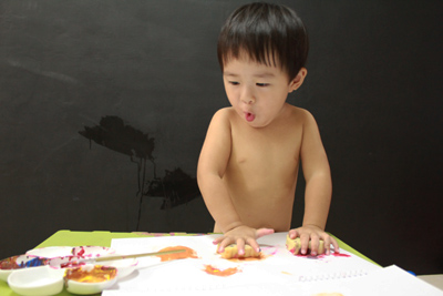 GIOTTO創意寶寶手指彩繪組-高密度蓋印泡棉