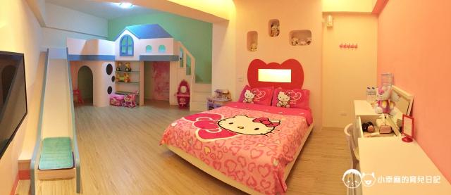 童樂繪親子遊戲館-Kitty溜滑梯四人房