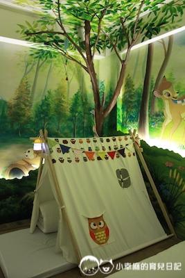 幸福童漾親子民宿-夜光森林雙人房有帳篷