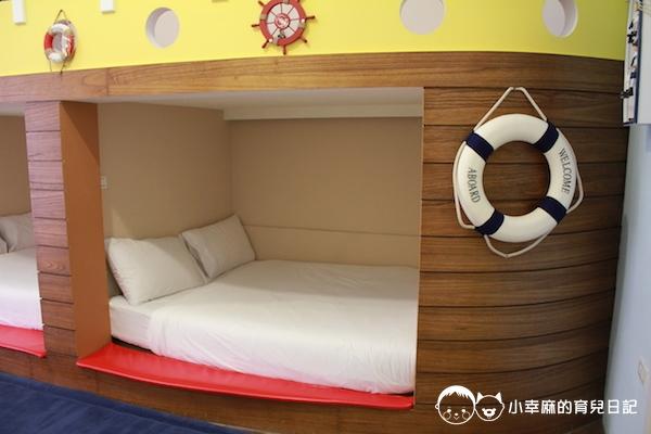 幸福童漾親子民宿-兩大床是隔開的